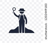 archeologist transparent icon.... | Shutterstock .eps vector #1202449183