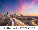 houston  texas  usa downtown... | Shutterstock . vector #1202458159