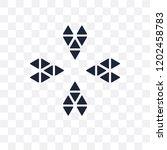 ornamental rotating polygonal... | Shutterstock .eps vector #1202458783