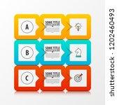 infographic design template.... | Shutterstock .eps vector #1202460493