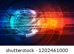 vector future digital speed... | Shutterstock .eps vector #1202461000