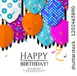 happy birthday greeting card... | Shutterstock .eps vector #1202465890
