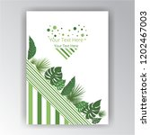 floral geometric page... | Shutterstock .eps vector #1202467003