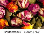 Bouquet Of Dried Roses With...