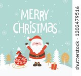 greeting card for christmas.... | Shutterstock . vector #1202479516