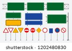 set of road signs isolated.... | Shutterstock .eps vector #1202480830