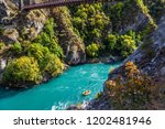 journey to the south island of... | Shutterstock . vector #1202481946