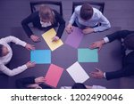 group of business people with... | Shutterstock . vector #1202490046