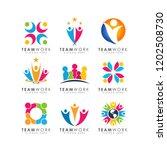 teamwork logo design vector | Shutterstock .eps vector #1202508730