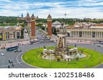 view of the plaza de espa  a in ... | Shutterstock . vector #1202518486