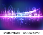 equalizer  woman dancing with... | Shutterstock .eps vector #1202525890