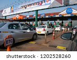 pune  india   toll plaza on the ...   Shutterstock . vector #1202528260