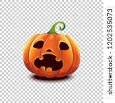 vector halloween pumpkin in... | Shutterstock .eps vector #1202535073
