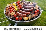 grilled food. various grilled...   Shutterstock . vector #1202535613