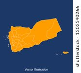 yemen map   high detailed color ... | Shutterstock .eps vector #1202540266