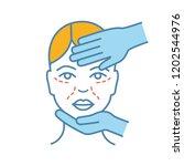 cosmetologist examination color ... | Shutterstock .eps vector #1202544976