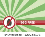 Egg free banner for food allergy concept - stock photo