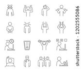 emotional stress linear icons... | Shutterstock .eps vector #1202555086