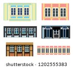vector set of architecture... | Shutterstock .eps vector #1202555383