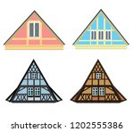 vector set of architecture... | Shutterstock .eps vector #1202555386