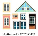 vector set of architecture... | Shutterstock .eps vector #1202555389