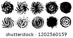 black spiral circles of ink.... | Shutterstock .eps vector #1202560159