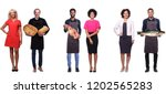 beautiful people with food | Shutterstock . vector #1202565283