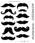 set of mustaches  props for...   Shutterstock .eps vector #1202566159