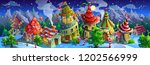 christmas.  panorama of ... | Shutterstock .eps vector #1202566999