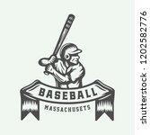 vintage baseball sport logo ... | Shutterstock .eps vector #1202582776