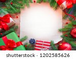 christmas background. tree... | Shutterstock . vector #1202585626