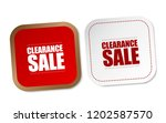 clearance sale stickers   Shutterstock .eps vector #1202587570