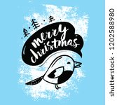 merry christmas. typography.... | Shutterstock .eps vector #1202588980