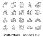 oil and petroleum line icon set.... | Shutterstock .eps vector #1202591410