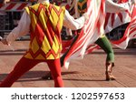 competitions of the flag wavers ... | Shutterstock . vector #1202597653