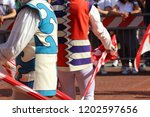 competitions of the flag wavers ... | Shutterstock . vector #1202597656