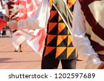 competitions of the flag wavers ... | Shutterstock . vector #1202597689