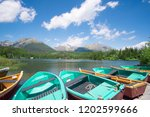 view of boats docked at lake...   Shutterstock . vector #1202599666