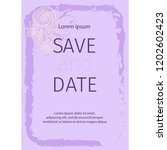 wedding invitation card suite... | Shutterstock .eps vector #1202602423