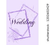 wedding invitation card suite... | Shutterstock .eps vector #1202602429