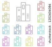 books icon in multi color....