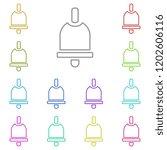 bell icon in multi color....