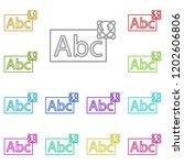 abc whiteboard icon in multi...