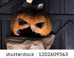 halloween demon. carve out some ... | Shutterstock . vector #1202609563
