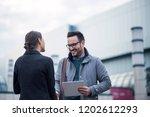businessman and businesswoman...   Shutterstock . vector #1202612293