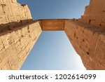 hieroglyphs on the entrance to... | Shutterstock . vector #1202614099