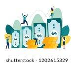 vector illustration  investment ... | Shutterstock .eps vector #1202615329