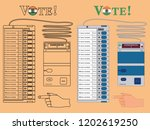 electronics ballot box india... | Shutterstock .eps vector #1202619250