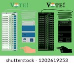 electronics ballot box india... | Shutterstock .eps vector #1202619253