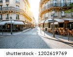 street view with beautiful...   Shutterstock . vector #1202619769